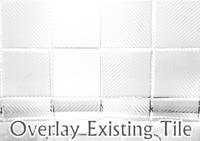 White Carbon Fiber Tile Covers 4 Inch