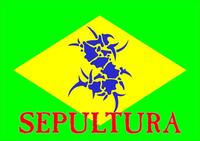 Sepultura Brazil Flag Decal / Sticker 06