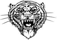Tigers Mascot Decal / Sticker 2
