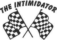 The Intimidator Checkered Flags  Decal / Sticker