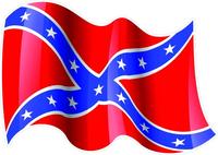 Waving Rebel / Confederate Flag Decal / Sticker 34