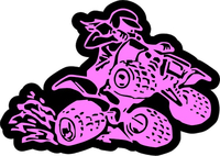 ATV Girl / Sticker