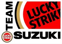 Lucky Strike Team Suzuki Decal / Sticker 06