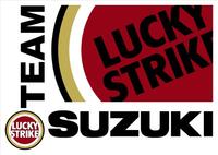 Lucky Strike Team Suzuki Decal / Sticker 08