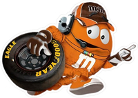 Orange NASCAR M&M Decal / Sticker 53