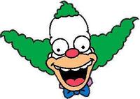 Krusty The Clown Decal / Sticker 03