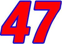 47 Race Number 2 Color Switzerland Font Decal / Sticker