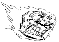 Comets Mascot Decal / Sticker 3