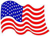 Waving American Flag Decal / Sticker 31