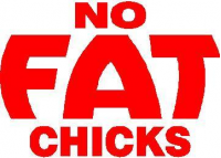 CUSTOM NO FAT CHICKS DECALS and NO FAT CHICKS  STICKERS