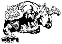 Tigers Wrestling Mascot Decal / Sticker