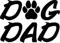 DOG DAD DECALS and STICKERS