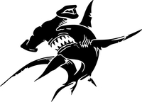 Hammerhead Shark Decal / Sticker 17