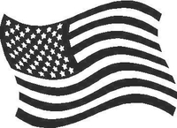 American Flag 01 Decal / Sticker