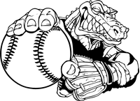 Baseball Gators Mascot Decal / Sticker