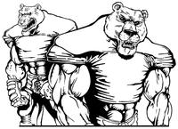 Football Bear Mascot Decal / Sticker 07
