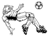 Soccer Bears Mascot Decal / Sticker