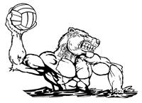 Volleyball Bear Mascot Decal / Sticker