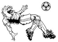 Soccer Bulldog Mascot Decal / Sticker 1