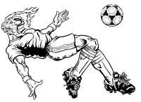 Soccer Comets Mascot Decal / Sticker 1