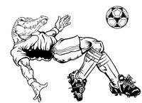 Soccer Gators Mascot Decal / Sticker 1