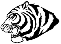 Tigers Mascot Decal / Sticker 4