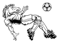 Soccer Horse Mascot Decal / Sticker 1