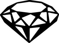Cut Diamond Decal / Sticker 01