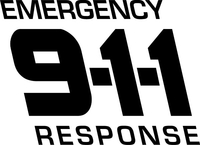 Emergency Response 911 Decal / Sticker 02