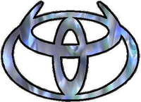 Blue Abalone Toyota Horns Decal / Sticker