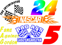 NASCAR Decals and NASCAR Stickers