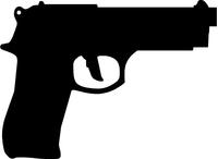 Beretta 9mm Gun Decal / Sticker