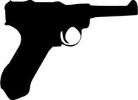 Luger P08 Gun Decal / Sticker