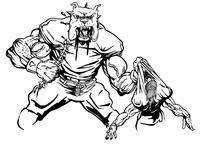 Football Bulldog Mascot Decal / Sticker 06