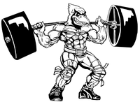 Weightlifting Cardinals Mascot Decal / Sticker 7