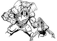 Football Elephants Mascot Decal / Sticker 06