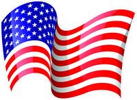 Waving American Flag Decal / Sticker 28