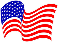 Waving American Flag Decal / Sticker 29