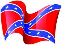 Waving Rebel / Confederate Flag Decal / Sticker 32