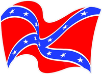 Waving Rebel / Confederate Flag Decal / Sticker 33