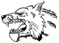 Wolves Mascot Decal / Sticker 5