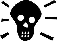Skull Decal / Sticker 25