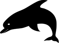 Dolphin Decal / Sticker 06