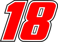 18 Race Number Decal / Sticker d