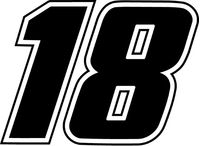 18 Race Number Decal / Sticker f