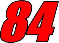 84 Race Number 2 Color Impact Font Decal / Sticker