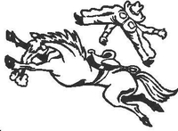Buckin' Bronco Decal / Sticker 02