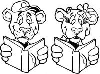 Reading Bears Mascot Decal / Sticker