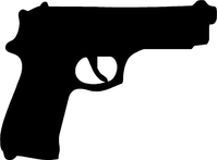 M9 Gun Decal / Sticker
