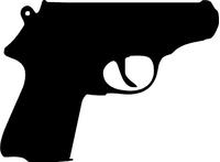 Walther PPK Gun Decal / Sticker